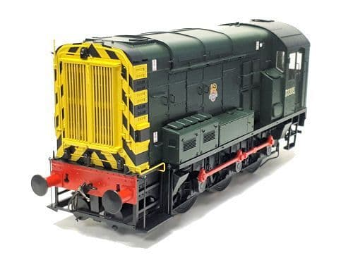 Dapol7D-008-008 Class 08 BR Green D3305 Early  Crest Wasp Stripes