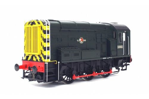Dapol 7D-008-009 O Gauge Class 08 BR Green D3002 Late Crest Wasp Stripes