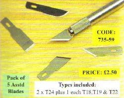 Expo 735-59 Assorted Blades Carded (5)