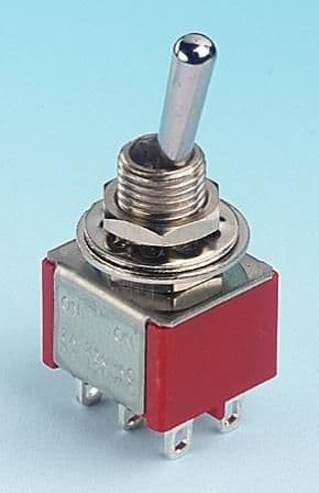 Expo A280-14 DPDT Minature Toggle Changeover Switch On/On (5)