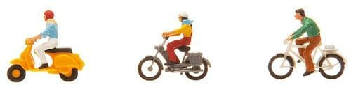 Faller 151079 HO Scale Cyclists & Moped Riders