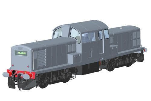Heljan  1753 Scale: 1:43, O BR/Clayton Class 17 D8607 BR Green SYP Weathered