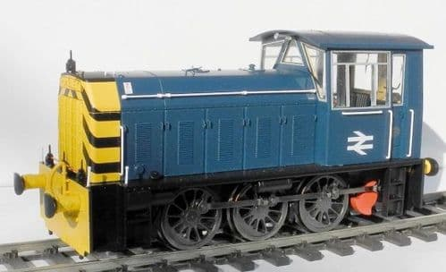 Heljan 2593 Scale: 1:43, O Hunslet Class 05 Blue (Late) Wasp Stripes Unnumbered