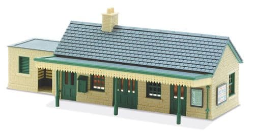 LK-13 Peco: 'MANYWAYS' SERIES LINESIDE KITS Country Station Building , stone type'