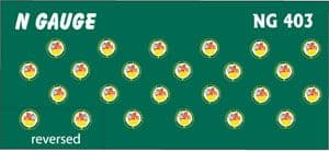 Modelmaster Decals ---N/2mm Scale Coaching Stock Crests 1956 to 1968