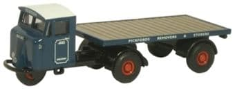NMH007 Oxford Diecast Mechanical Horse Flatbed Trailer Pickfords