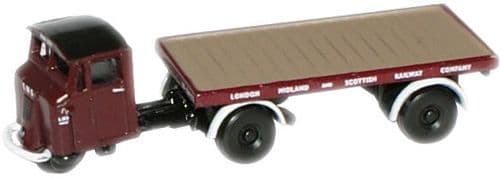 NMH009 Oxford Diecast Mechanical Horse Flatbed Trailer LMS