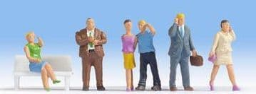 Noch 15574 Scale: 1:87, HO Mobile Phone Users (6) Figure Set