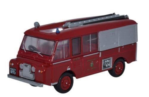 Oxford Diecast 76LRC001 Land Rover FT6 Carmichael Cheshire County Fire Brigade