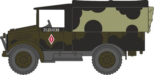 Oxford Diecast 76MWD001  Bedford MWD British Army Mickey Mouse