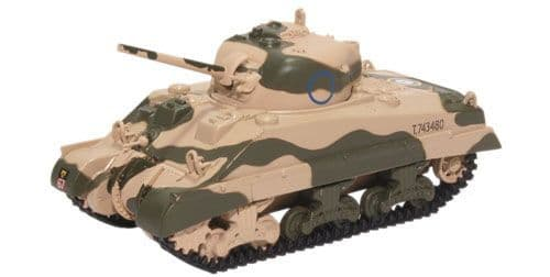 Oxford Diecast 76SM001 Sherman Tank MK III 10th Armoured Division 1942
