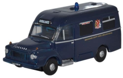 Oxford Diecast NBED001  Bedford J1 Lomas Ambulance Hereford