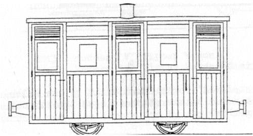 Parkside Dundas DM62  Festiniog Planked 4Wheel 3rd Coach