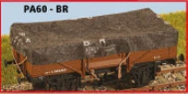 Parkside PA60 1/76 Scale OO BR Wagon Tarpaulins (8)