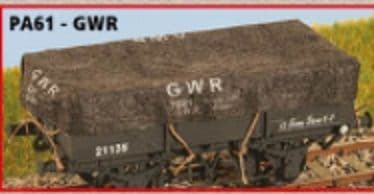 Parkside PA61 1/76 Scale OO GWR Wagon Tarpaulins (8)