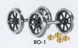 Parkside PS621 (was Peco RO-1) O Scale Spoked Wagon Wheels & Bearings