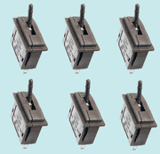 PL-26B Peco: Passing Contact Switch. Black Lever Pack of 6