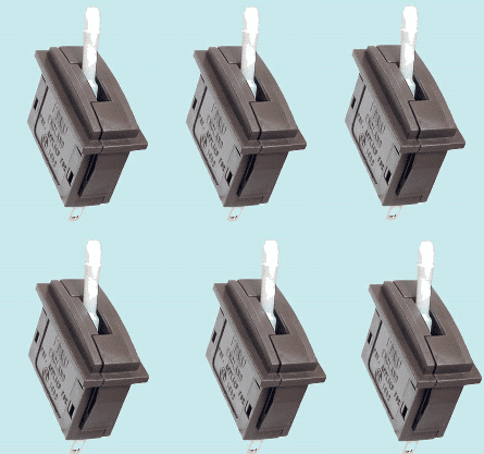 PL-26W Peco: Passing Contact Switch. White Lever Pack of 6