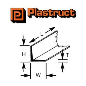 Plastruct A-3P  A-3P - 2.4mm ANGLE (8 pieces)