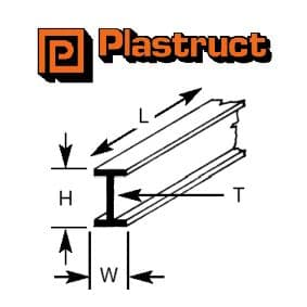 Plastruct B-3P  B-3P - 2.4mm BEAM (8 pieces)