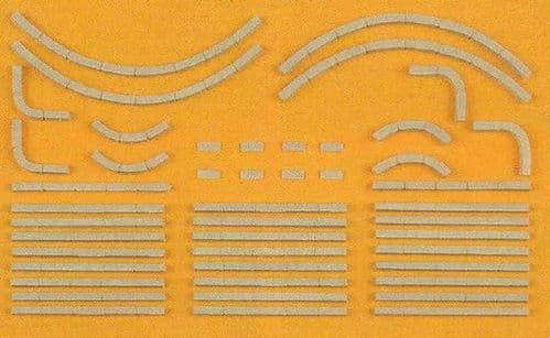 Preiser 18200 Curbstones 38 pieces Kit