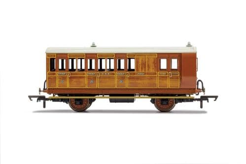 R40059 Hornby GNR, 4 Wheel Coach, Brake 3rd Class, 399 - Era 2