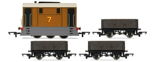 R9089 Hornby: Thomas Train Pack Toby + 3 Wagons