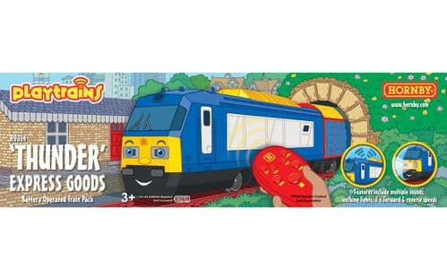 R9314 Hornby Playtrains Thunder Express Goods Battery Train Pack