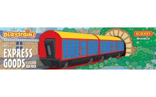 R9316 Hornby Playtrains Express Goods 2 Closed Wagon Pack