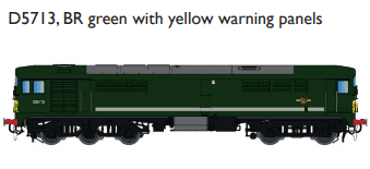 Rapido 905003 Class 28 MV 'CO-BO'  D5713, BR green with yellow warning panels