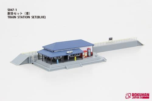 Rokuhan7297634 Railway Station with Blue Roof