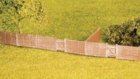 SS44 Wills: OO BUILDINGS KITS  Larch Lap Fencing, including gates