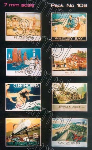 Tiny Signs O106  LNER Travel Posters Large