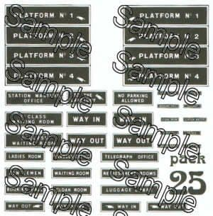 Tiny Signs OO25 - OO Scale Early Station Signs