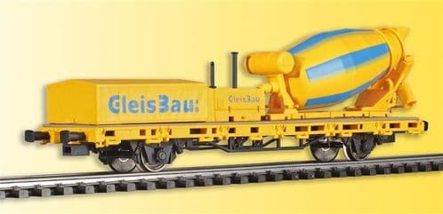 Viessmann2624 Gleisbau Flat Wagon with Working Cement Mixer (DCC-Fitted)