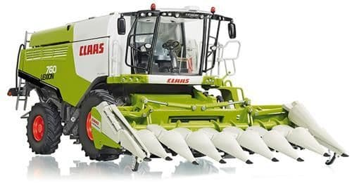 Wiking 077340 1:32 DIECAST Claas Lexion 760 Combine with Corn Header
