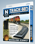 WST1475 Woodland Scenics: N Track-Bed Roll (3mm x 24' - Seamless Roll)