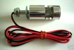 CHROME ALLOY 3w Tail Tidy / Number Plate Bolt Light. [= Two Lamps]