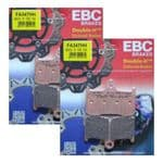 "DAYTONA 675 2006-08: ""FULL FRONT SET"" EBC Sintered ""HH"" Brake Pads [FA-347HH=2xpair]"