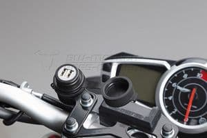 SW Motech Handlebar Mounting Plate For 12v Cigarette Accessory Power Socket.