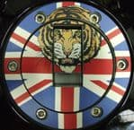 "TRIUMPH Petrol/Gas Cap. Aluminium Tank Decal: ""Tiger Head"" Colour"