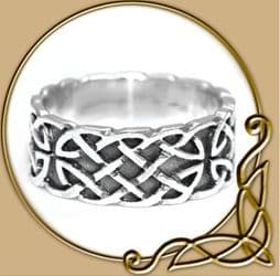 Celtic Silver Ring with Endless Knot Pattern