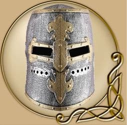 Children Knight's Great Helm with Hinged Visor, Plastic