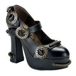 Costume- Ladies Steampunk Heeled Shoes