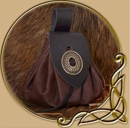 Large medieval money pouch