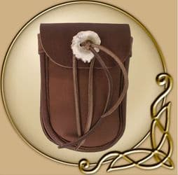 LARP Brown Belt Bag with Antlers Button