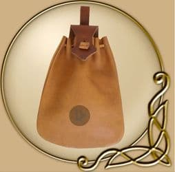 LARP Leather pouch with lace
