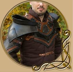LARP Rogue Neck and Shoulders armour
