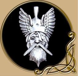 Odin, pendant from silver