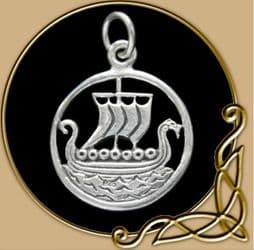 Pendant Dragonboat Viking from Silver